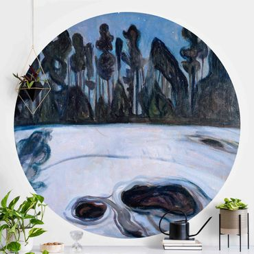 Runde Tapete selbstklebend - Edvard Munch - Sternennacht