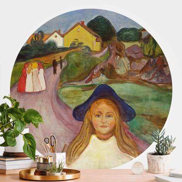 Runde Tapete selbstklebend - Edvard Munch - Weiße Nacht
