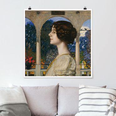 Poster - Franz von Stuck - Weibliches Portrait - Quadrat 1:1