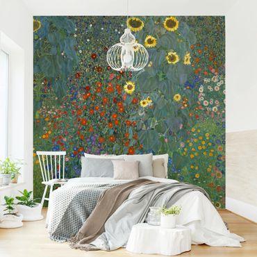 Fototapete - Gustav Klimt - Garten Sonnenblumen