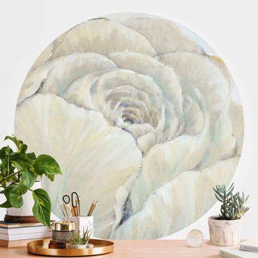 Runde Tapete selbstklebend - Englische Rose Pastell
