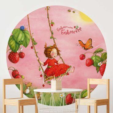 Runde Tapete selbstklebend - Erdbeerinchen Erdbeerfee - Baumschaukel