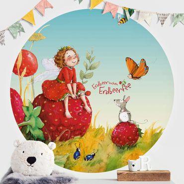Runde Tapete selbstklebend - Erdbeerinchen Erdbeerfee - Zauberhaft