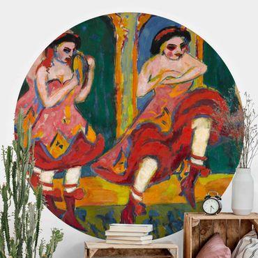 Runde Tapete selbstklebend - Ernst Ludwig Kirchner - Czardastänzerinnen