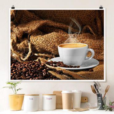 Poster - Kaffee am Morgen - Querformat 3:4