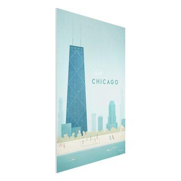 Forex Fine Art Print - Reiseposter - Chicago - Hochformat 3:2