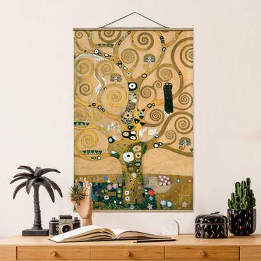 Stoffbild mit Posterleisten - Gustav Klimt - Der Lebensbaum - Hochformat 3:2