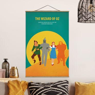 Stoffbild mit Posterleisten - Filmposter The Wizard of Oz - Hochformat 3:2