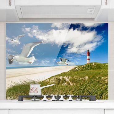 Glas Spritzschutz - Dune Breeze - Querformat - 4:3