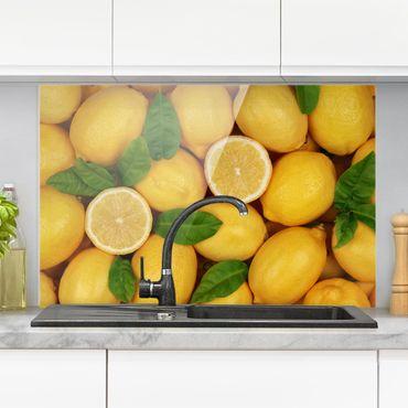 Spritzschutz Glas - Saftige Zitronen - Querformat - 3:2