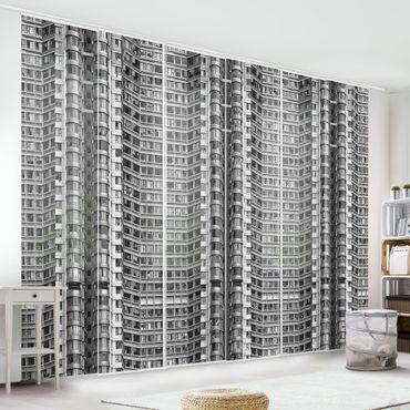 Schiebegardinen Set - Skyscraper - Flächenvorhänge