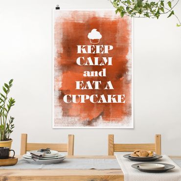 Poster - No.EV71 Keep Calm And Eat A Cupcake - Hochformat 3:2