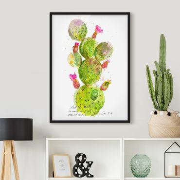 Bild mit Rahmen - Kaktus mit Bibellvers III - Hochformat 4:3