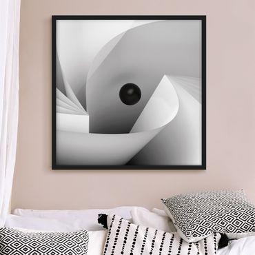 Bild mit Rahmen - Big Eye - Quadrat 1:1