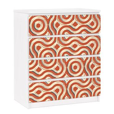 Möbelfolie für IKEA Malm Kommode - selbstklebende Folie Abstrakte Ethno Textur