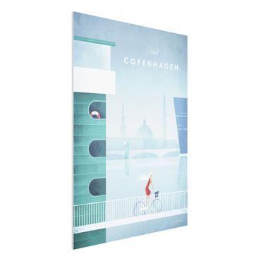 Forex Fine Art Print - Reiseposter - Kopenhagen - Hochformat 4:3