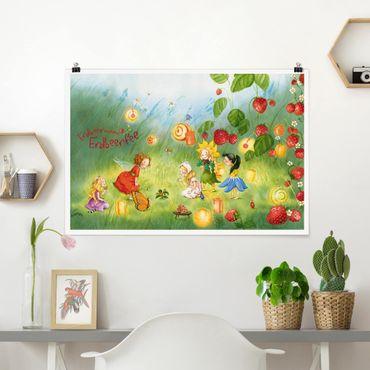 Poster - Erdbeerinchen Erdbeerfee - Laternen - Querformat 2:3