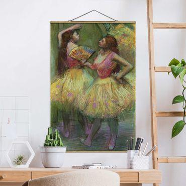 Stoffbild mit Posterleisten - Edgar Degas - Zwei Tänzerinnen - Hochformat 3:2