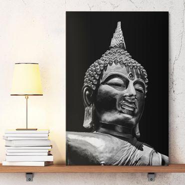 Leinwandbild - Buddha Statue Gesicht - Hochformat 3:2