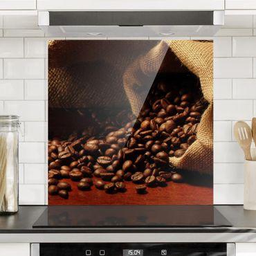 Glas Spritzschutz - Dulcet Coffee - Quadrat - 1:1