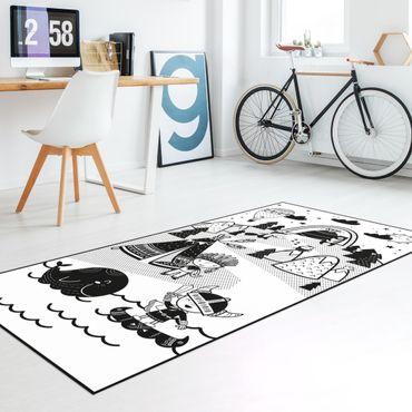 Vinyl-Teppich - Spielteppich Wikinger - Die Eroberung des Diamanten - Hochformat 1:2