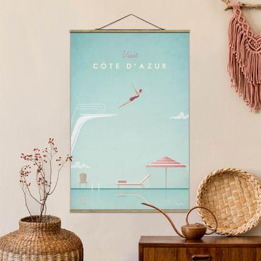 Stoffbild mit Posterleisten - Reiseposter - Côte d´Azur - Hochformat 3:2