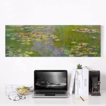 Leinwandbild - Claude Monet - Grüne Seerosen - Panorama 1:3