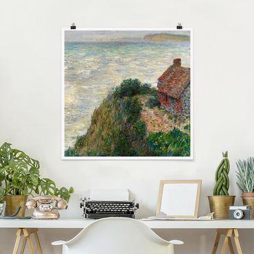 Poster - Claude Monet - Fischerhaus Petit Ailly - Quadrat 1:1