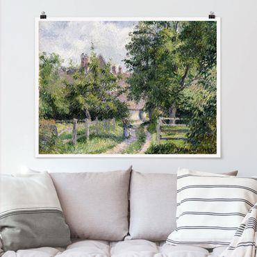 Poster - Camille Pissarro - Saint-Martin - Querformat 3:4