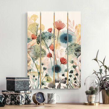Holzbild - Wildblumen im Sommer I - Hochformat 3:2