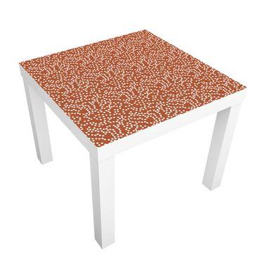 Möbelfolie für IKEA Lack - Klebefolie Aborigine Punktmuster Braun