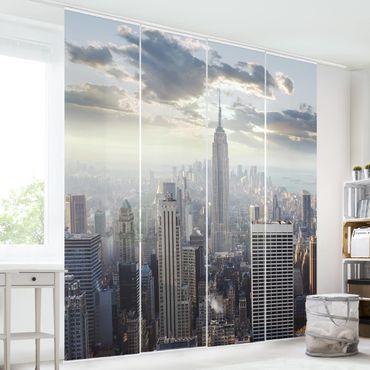 Schiebegardinen Set - Sonnenaufgang in New York - Flächenvorhänge