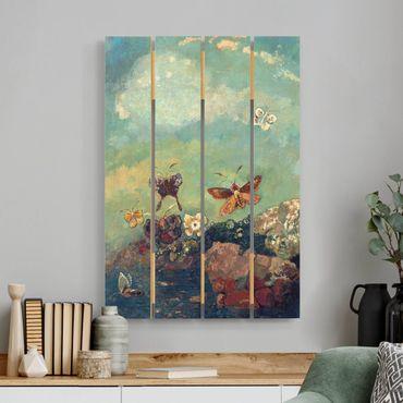 Holzbild - Odilon Redon - Schmetterlinge - Hochformat 3:2