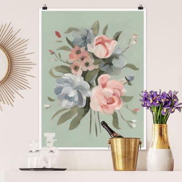 Poster - Bouquet in Pastell II - Hochformat 3:4