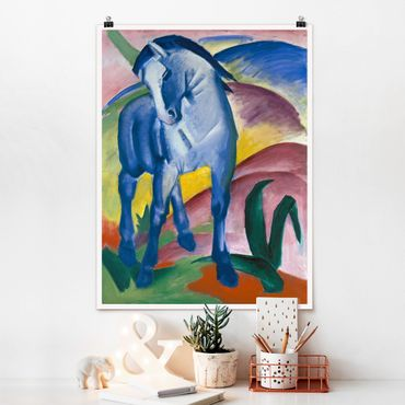 Poster - Franz Marc - Blaues Pferd - Hochformat 3:4