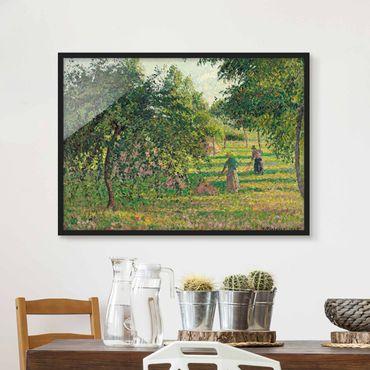 Bild mit Rahmen - Camille Pissarro - Apfelbäume - Querformat 3:4