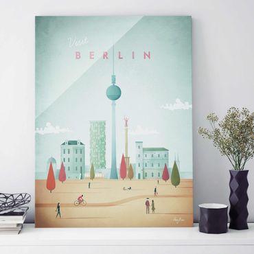 Glasbild - Reiseposter - Berlin - Hochformat 4:3