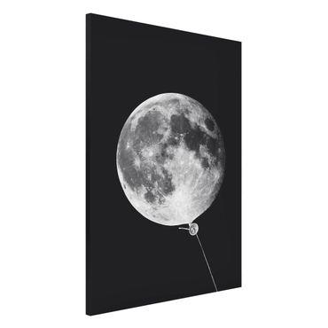 Magnettafel - Jonas Loose - Luftballon mit Mond - Memoboard Hochformat 3:2