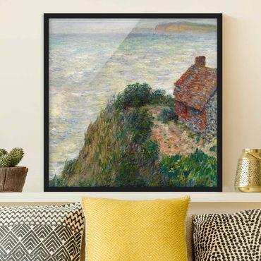 Bild mit Rahmen - Claude Monet - Fischerhaus Petit Ailly - Quadrat 1:1