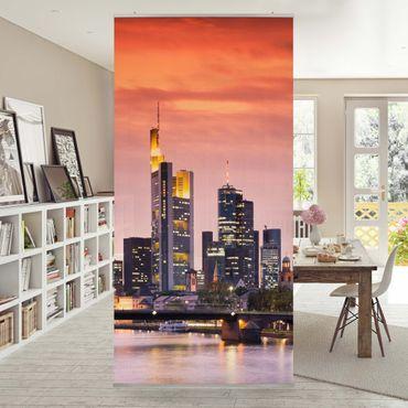 Raumteiler - Frankfurt Skyline 250x120cm