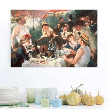 Glasbild - Auguste Renoir - Das Frühstück der Ruderer - Querformat 2:3