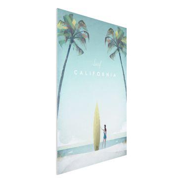 Forex Fine Art Print - Reiseposter - California - Hochformat 3:2