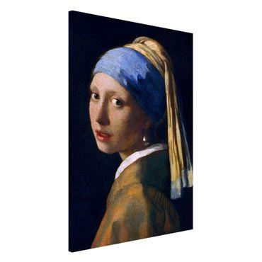 Magnettafel - Jan Vermeer van Delft - Das Mädchen mit dem Perlenohrgehänge - Memoboard Hochformat 3:2
