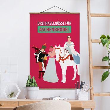 Stoffbild mit Posterleisten - Filmposter Drei Haselnüsse für Aschebrödel - Hochformat 2:3