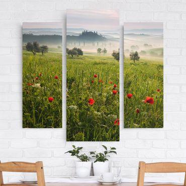 Leinwandbild 3-teilig - Toskana Frühling - Galerie Triptychon