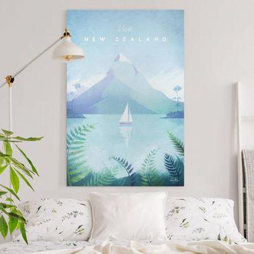 Leinwandbild - Reiseposter - Neuseeland - Hochformat 3:2