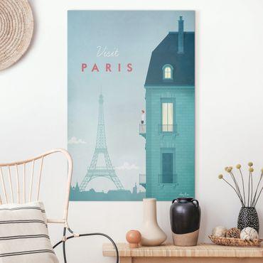 Leinwandbild - Reiseposter - Paris - Hochformat 3:2