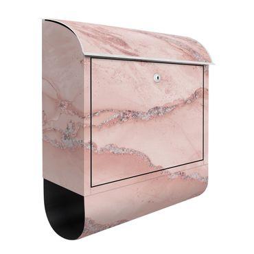 Briefkasten - Farbexperimente Marmor Rose und Glitzer