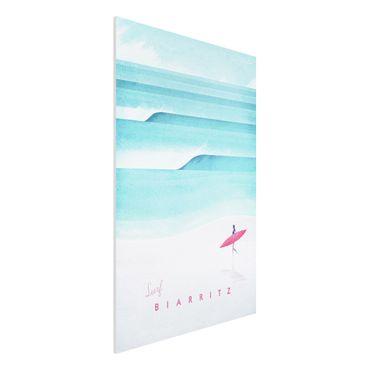 Forex Fine Art Print - Reiseposter - Biarritz - Hochformat 3:2