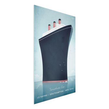 Forex Fine Art Print - Reiseposter - Kreuzfahrtschiff - Hochformat 3:2